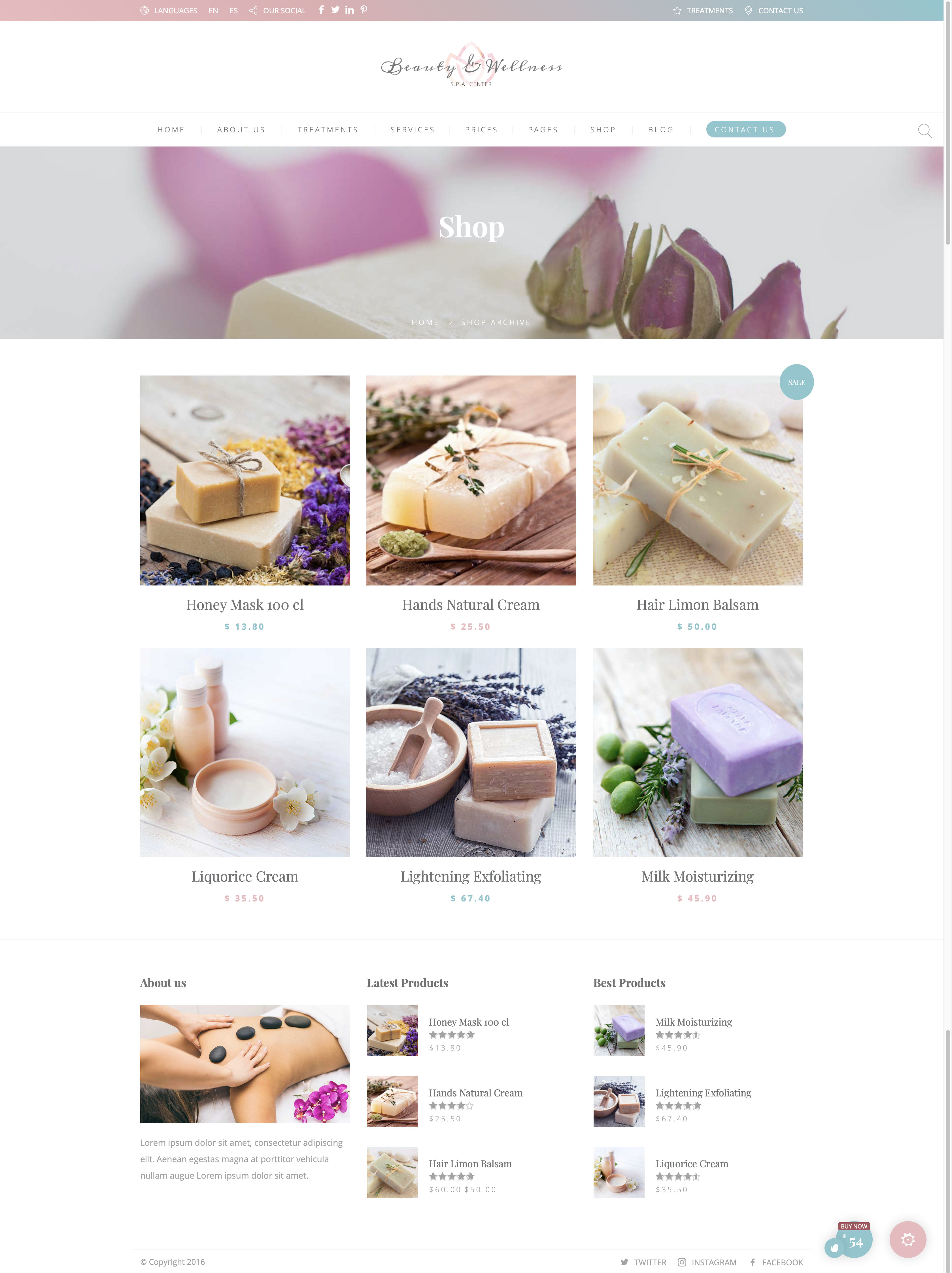 Beauty Wellness - Spa - Shop